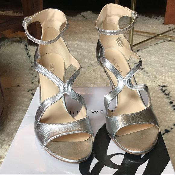 d1d41bf73e Nine West Shoes | Like New Gerbera Silver Heels | Poshmark
